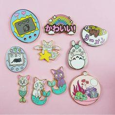 Collar Clips, Pokemon Pins, Jacket Pins, Shirt Pins, Kawaii Stickers, Cat Pin, Pin Art, Cool Pins, Pin And Patches