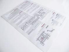 Tracing paper, three colour flyer. Double sided printing.