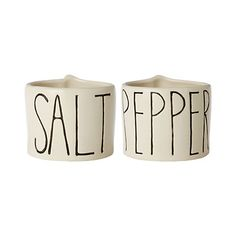 Awesome little set of salt and pepper cellars from Terrain.