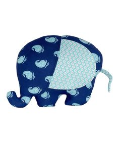 6f73c346ced73 Masala Baby Navy Blue Paisley Elephant Plush Toy