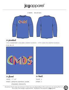 JCG Apparel : Custom Printed Apparel : Christ Methodist Day School Block Letter T-Shirt #christmethodistdayschool #blockletters