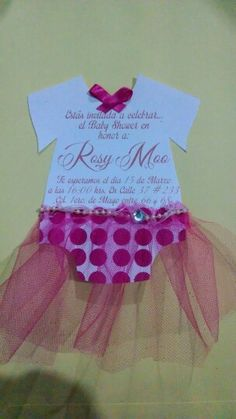 Invitaciones baby shower tutu