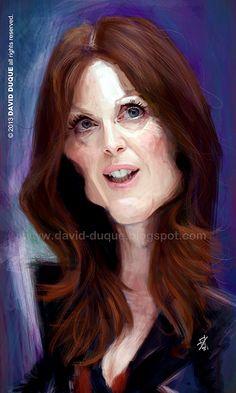 [ Julianne Moore ] - artist: David Duque - website: http://david-duque.blogspot.com/
