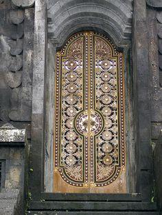 Mother Temple of Besakih, Bali, Indonesia Grand Entrance, Entrance Doors, Doorway, Cool Doors, Unique Doors, Portal, When One Door Closes, Knobs And Knockers, Door Gate