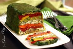 Roasted vegetable terrine!
