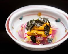 Potato Tofu with Hokkaido Sea Urchin ジャガイモ豆腐と北海道雲丹 - 割烹 喜作 #MissNeverfull_Tokyo by miss_neverfull