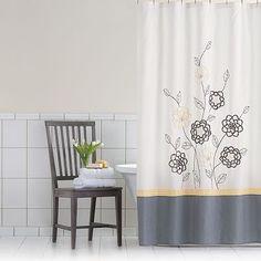 Home Classics® Sophia Fabric Shower Curtain
