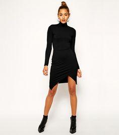 ASOS Polo Asymmetric Dress in black