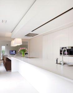 Zwevend met geintegreerde lange lijn LED? - Novy Deckenhaube High'line in einer Küche von GF Concepts
