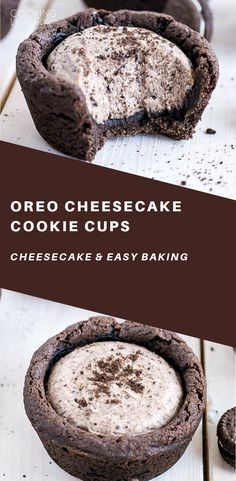 Cheesecake Cookie Cups These easy Oreo Cheesecake Cookie Cups are perfect for the Oreo lover in your life!These easy Oreo Cheesecake Cookie Cups are perfect for the Oreo lover in your life! Oreo Cheesecake Cookies, Cheesecake Recipes, Cookie Recipes, Dessert Recipes, Cheesecake Frosting, Frosting Recipes, Mini Desserts, Easy Desserts, Delicious Desserts