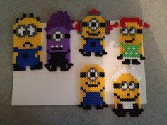 Minions - Despicable Me perler beads by GameOfBeads