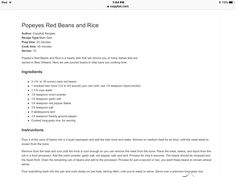 Copy cat Popeyes red beans and rice Copykat Recipes, Rice Recipes, Cooking Recipes, Red Beans And Rice Recipe Popeyes, Healthy Food, Yummy Food, Healthy Recipes, Popeyes Chicken, One Pot Wonders
