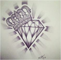 Tatto Ideas hearts with crowns and diamonds tattoo designs Diamond Crown Tattoo, Diamonds Tattoo, Diamond Tattoo Designs, Cross Tattoo Designs, Tattoo Design Drawings, Heart Tattoo Designs, Tattoo Sketches, Diamond Tattoo Men, Crown Tattoo Men