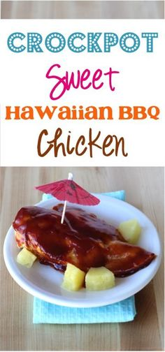 Crockpot Sweet Hawaiian BBQ Chicken Recipe! ~ from TheFrugalGirls.com ~ just a few ingredients and you've got a delicious Slow Cooker dinner bursting with Aloha flavor! #slowcooker #recipes