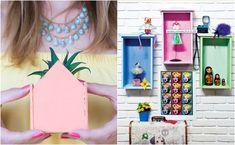 Decoração com cola: 5 ideias fáceis para fazer em casa #decoração #cola #craft #ideias #diy #façavocêmesmo #quarto #gavetas #reciclagem E Design, Creative, Ideias Diy, Frame, Home Decor, Diy Home, Make Up, Creativity, Valentines Day Weddings
