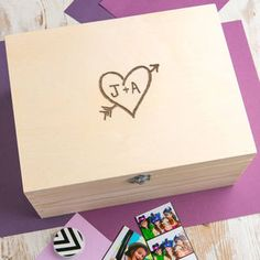Personalised Wooden Memory Box For Couples - home