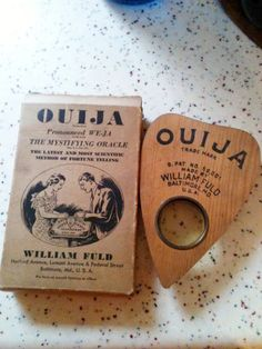 Antique Ouija Planchette via Etsy. I'll admit, though other methods of divination don't freak me out, the Ouija Board kind of Wiccan, Magick, Witchcraft, Tarot, Bohemian Christmas, Fortune Telling, Spiritual Gifts, Crystal Ball, Paranormal