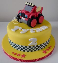Blaze and the Monster Machines themed birthday cake by BuBakes