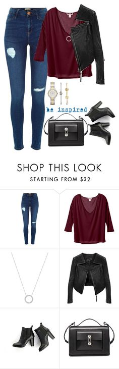 """""""Red Deception"""" by cloudybooks ❤ liked on Polyvore featuring Michael Kors, Linea Pelle, SWEET MANGO, Balenciaga, Underscore and FOSSIL"""