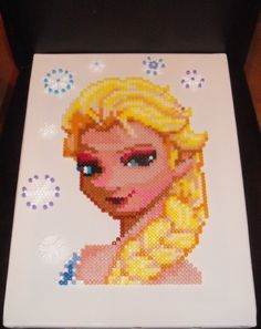 Frozen Elsa Hama Perler Bead Design by KMCollectables1