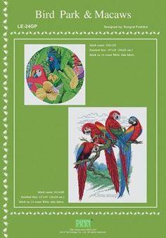Bird Park and Macaws - Cross Stitch Pattern