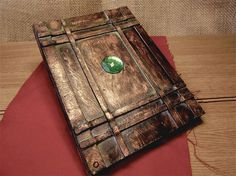 Bronze Steampunk Book of Shadows / Journal / Sketchbook / Grimoire