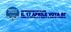 Oggi si vota in tutta Italia, dalle 7:00 alle 23:00   Andare a votare è importante perché:  1) è un tuo diritto   2) è un tuo dovere  3) Renzi e Napolitano hanno detto di non andare a votare  4) possiamo liberare con un SÌ il mare dalle trivelle  5) possiamo liberare con un SÌ l'Italia dal PD