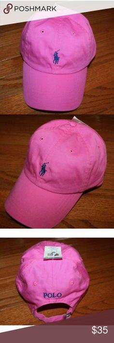Polo Ralph Lauren baseball cap Pink baseball cap with navy horse Polo by Ralph Lauren Accessories Hats