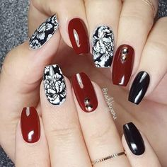 21 Stunning Burgundy Nails Designs That will Conquer Your Heart: Subtle Transition #burgundy; #nails; #nailart; #naildesign