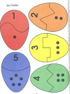 Eggs number Matching/ puzzles de Pâques - My Pin Preschool Learning, Kindergarten Math, Preschool Crafts, Crafts For Kids, Teaching, Easter Activities, Learning Activities, Preschool Activities, Toddler Learning