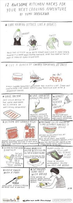 Using the kitchen hacks below, you can also core iceberg lettuce like a badass, store celery for weeks, section off ground meat into individual portions before placing in the freezer, and grate ginger without busting out a grater.
