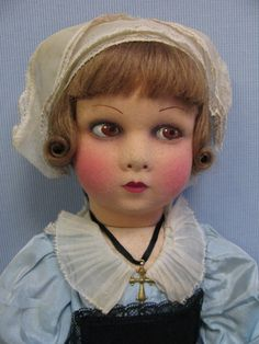 16 Early Tagged NICETTE Made in France c1930 POUPEES Felt Doll All-Original