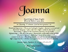 Joanna Name Meaning - First Name Creations