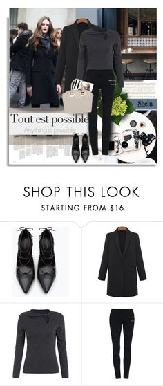 """Anything is posibble with Shein.com"" by hamaly ❤ liked on Polyvore featuring Zara, Cyrus, outfit, ootd, Sheinside, allblack and fallstyle"