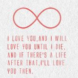 """The Mortal Instruments Quote """"I love you, and I will love you until I die, and if there's a life after that, I'll love you then."""" ~ Jace about Clary"""