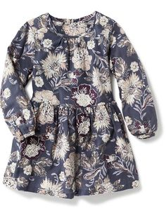 83a2cec18d8 Crepe Floral Dress Winter Outfits For Girls