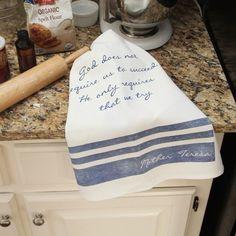 Mother Teresa Dish Towel - Try   The Catholic Company