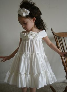 toddler outfit, kids fashion, white ruffled dress