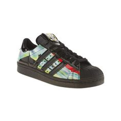 Adidas Womens Superstar Rita Ora O-ray Trainers black UK 4 Man Made (989.315 IDR) ❤ liked on Polyvore featuring shoes, black, colorful shoes, print shoes, polish shoes, synthetic shoes and multicolor shoes