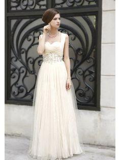 Wonderful Gem Decorated Floor-Length High-Waist Prom Dress