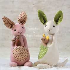 {New Free Pattern} Sock Kangaroo & Baby Kangaroo pattern Please meet Mama Kass and Baby Kaden, the new sock family members of Craft Passion. Tap @craftpassion and click on the link in the profile to get into craftpassion.com, search for the tutorial. #craftpassion #Mothersday #kangaroo #sockkangaroo #diygift #sewing #sewingpattern #tutorial #diy