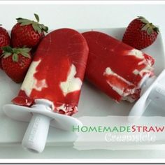 Strawberry Creamsicle-you would never know that it was homemade