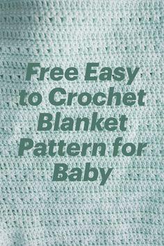 Free Easy to Crochet Blanket Pattern for Baby crochet patterns for baby #crochet #patterns #crafts Free Baby Blanket Patterns, Easy Baby Blanket, Crochet Blanket Patterns, Baby Afghan Crochet, Baby Afghans, Free Crochet, Bernat Super Value Yarn, Caron One Pound Yarn, Crochet Hook Set