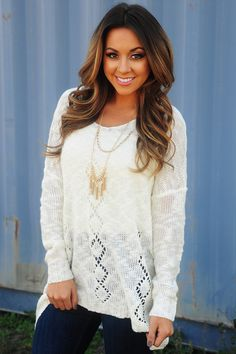 The Best Part Sweater: Ivory #shophopes