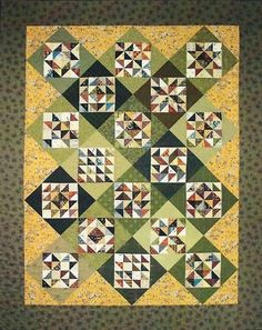 Sarah's Four Patch Sampler Quilt pattern by Lori Smith | eBay