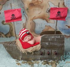 pirate ship newborn photography prop...I must have this!