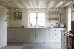 from Modern Country Style blog: How To Makeover Your Kitchen....French Gray units