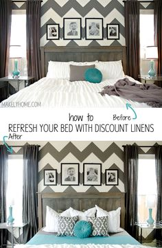 How to refresh your bed with discount linens.
