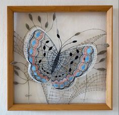 Foto Andrea Šustrová Diy And Crafts, Arts And Crafts, Bobbin Lacemaking, Thread Art, Victorian Lace, Butterfly Art, Butterflies, Point Lace, Bugs And Insects