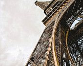Eiffel Tower at an Angle-Paris,France,10x15-other sizes available,Architecture,Landscape,Parisian,Eiffel tower,Travel,Color,Sky